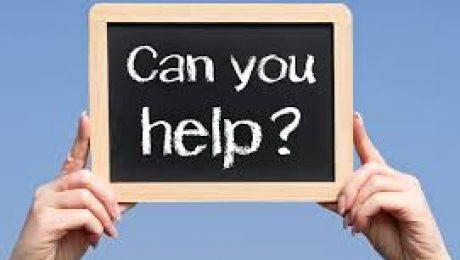 can you help written on chalkboard